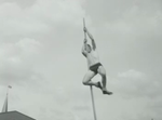 Long jumping with a pole